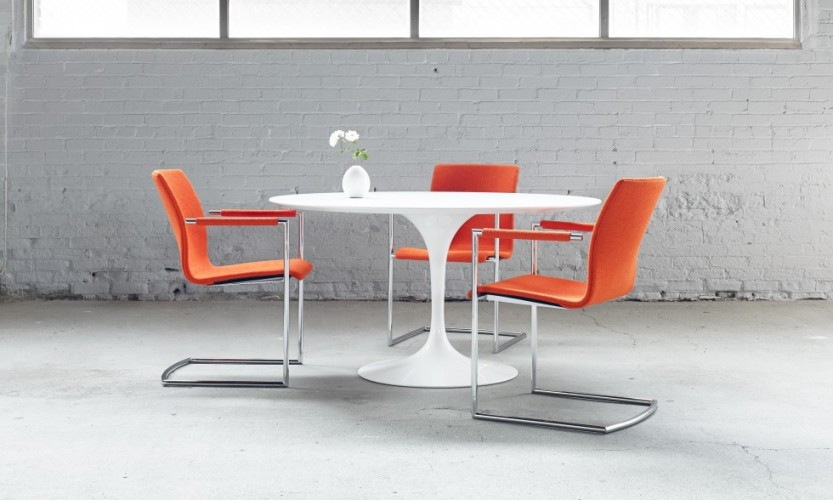 Axis Cantilever White Table
