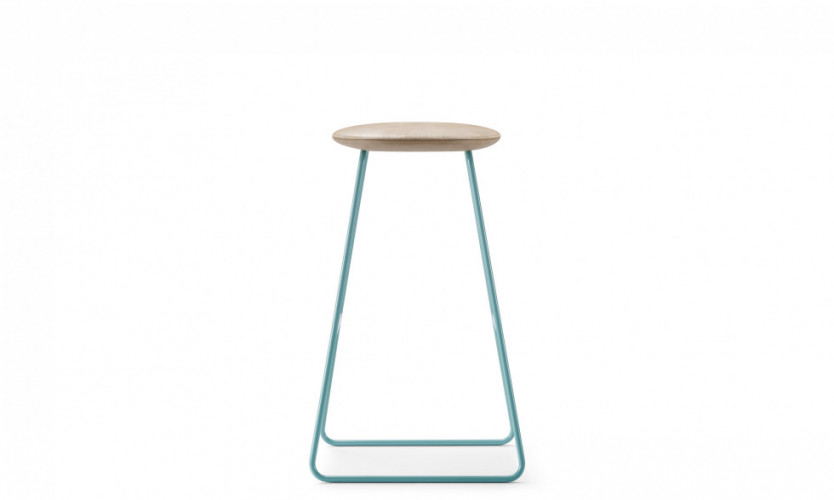 Tempt Stool 30 Aqua Profile