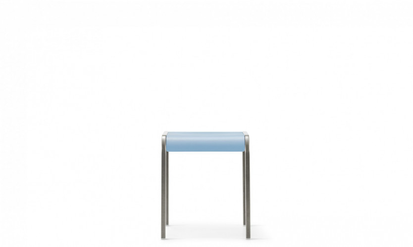 Viiva Stool or table 18 LtBl Raw Front