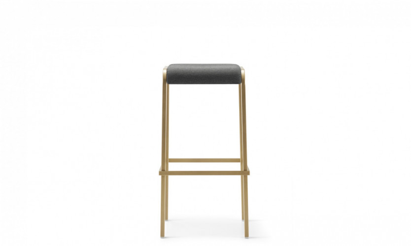 Viiva Stool 30 Uph Brs Front