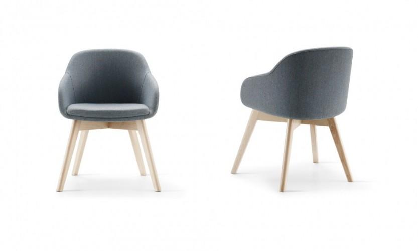 Martini Wood Leg FB Bl 2 Chairs FB