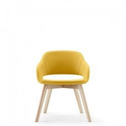 Martini Wood Leg Yellow Front