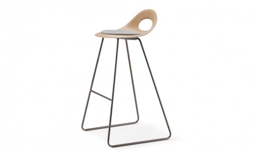 3202 - Sled frame bar stool, oak shell