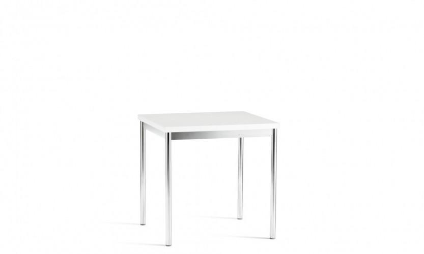 Cache Square Table  Chrome Laminate