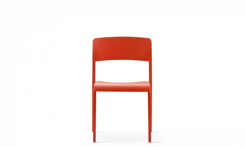 Viiva Chair LtRd LtRd Front